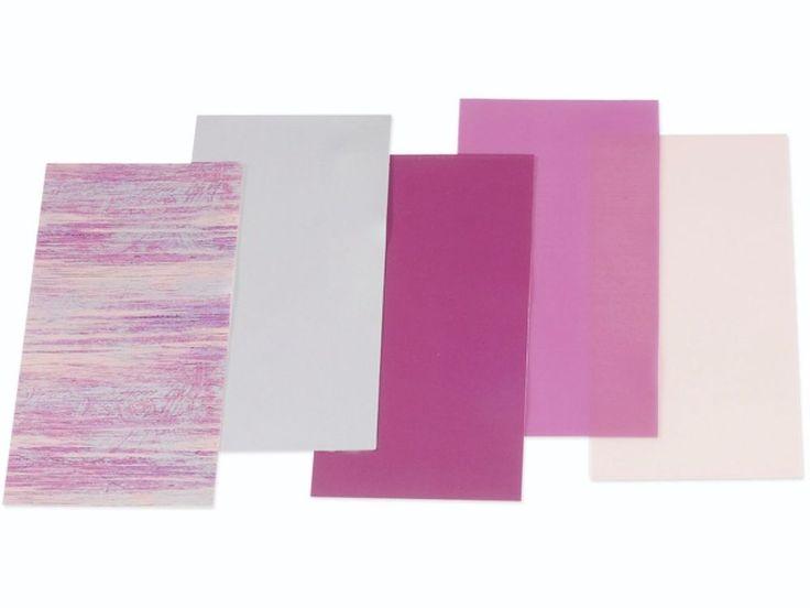 5 Wachsplatten rosa Mix 17,5x8cm Kerze gestalten Verzierwachs NEU  | eBay