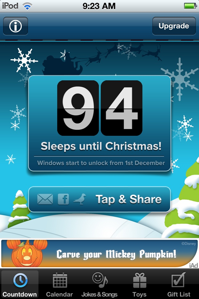 94 sleeps till we hear those sleigh bells jingling ring ting ...