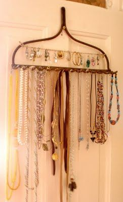 Yes a rake display for jewelry. I need this for the LARGE amount of piece of costume jewelry I have. Hmmm I might need a couple of rakes. HA!