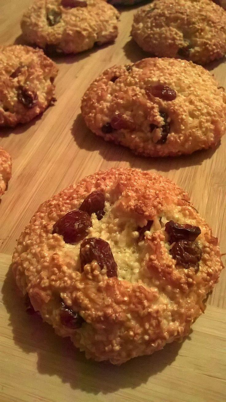 Bezglutenowe amarantusowe ciasteczka - bez mąki, bez cukru, bez tłuszczu