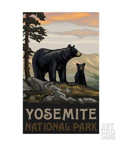 Art.fr - Reproduction photographique 'Yosemite National Park BBF Black Bears' par Paul A Lanquist