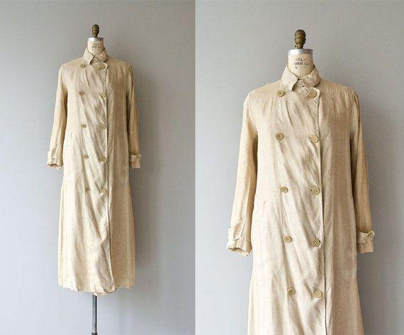 McCreery & Co. Edwardian duster coat  1910s linen by DearGolden