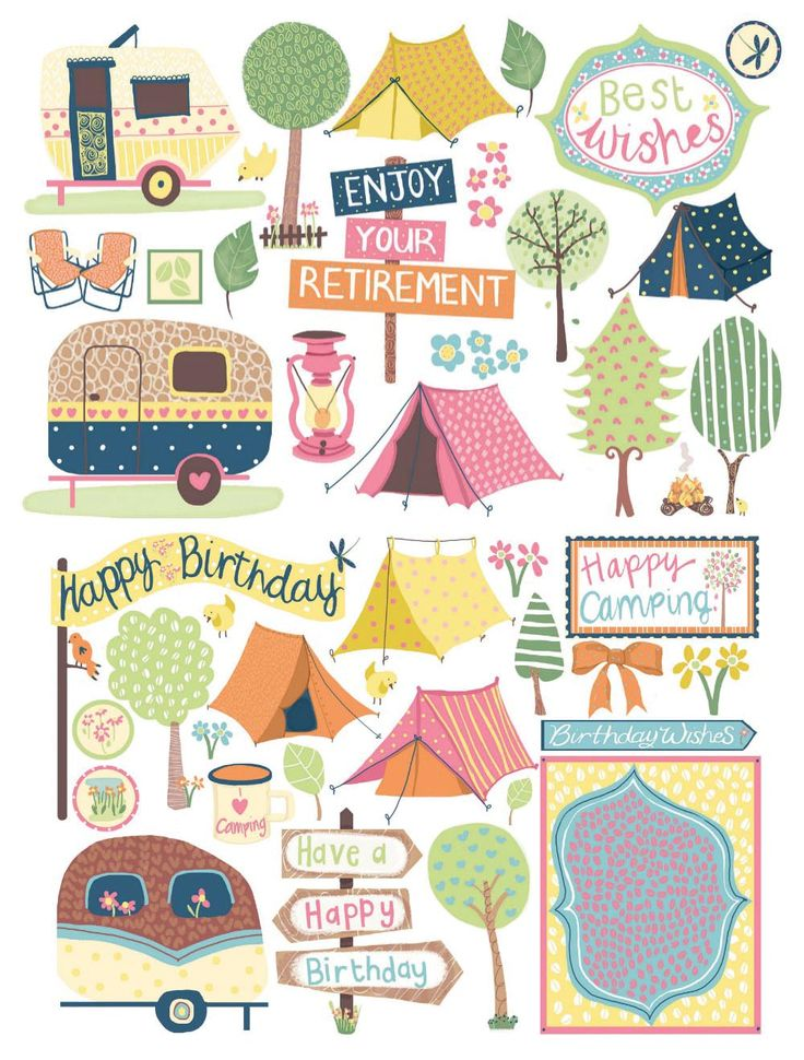 43 best images about clip art camping on pinterest for Card making templates free download