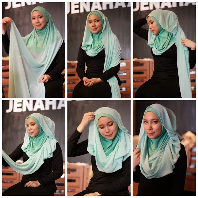 Large Ruffled Hijab Tutorial/ Day Wear
