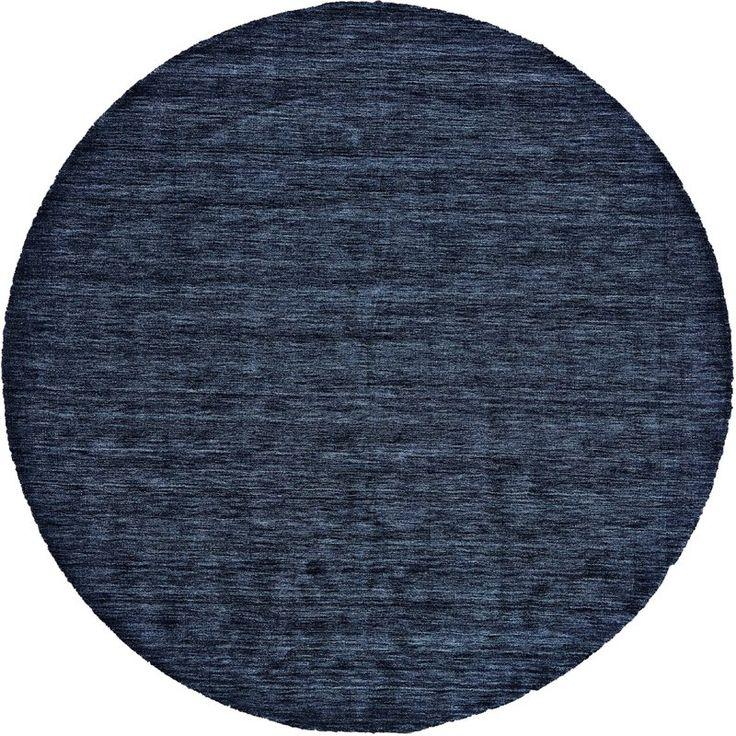 Larissa Handmade Tufted Wool Dark Blue Area Rug Dark