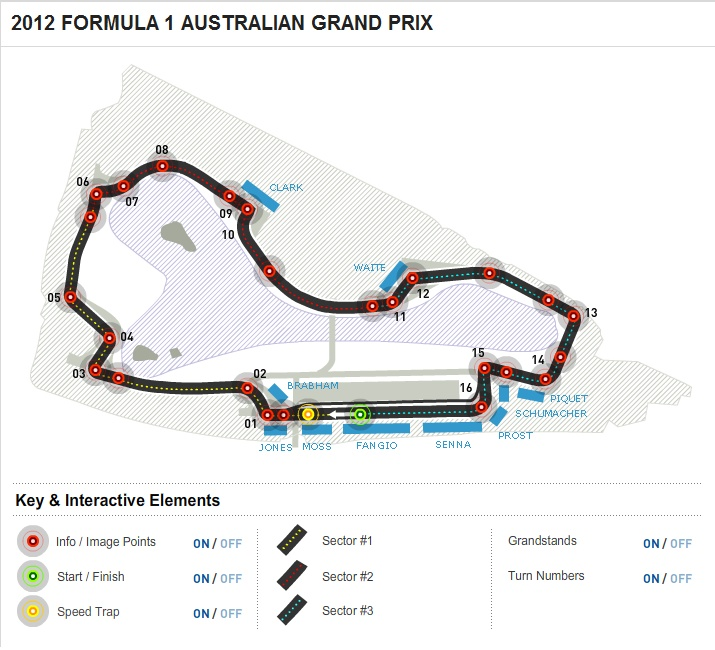 2012 FORMULA 1 AUSTRALIAN GRAND PRIX - Circuit Map from www.Formula1.com