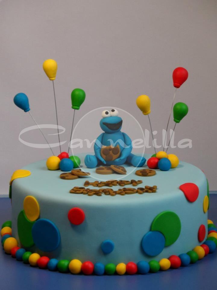 El ponque del monstruo come galletas, ahora no solo come galletas! / Cookie Monster cake
