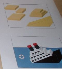 Constructing a Titanic cake-picture instructions!!!!!!