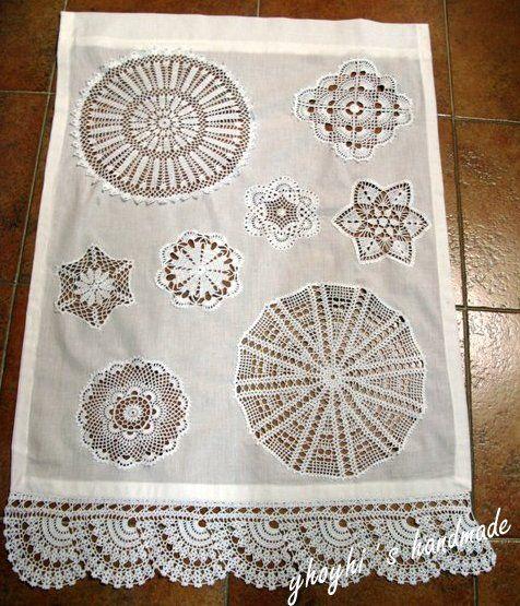 visillo de ganchillo para el ba o artesan a crochet