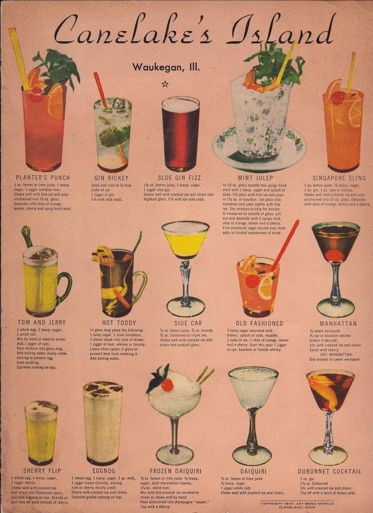 Vintage Cocktail Menu | Flickr - Photo Sharing!