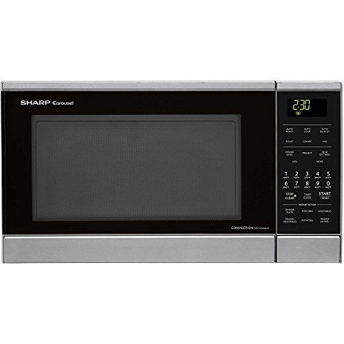 Carousel 0 9 Cu Ft 900w Countertop Convection Microwave Oven With Stainless Steel Interior And