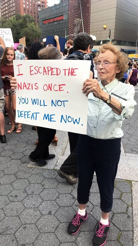 We cannot have a president who is supported by Nazis
