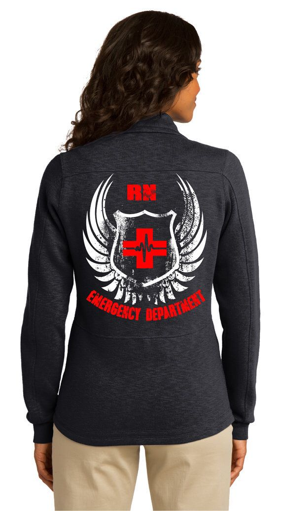 Women's Emergency Department Jacket (RN) Black by ArnoldPrints on Etsy https://www.etsy.com/listing/256830349/womens-emergency-department-jacket-rn