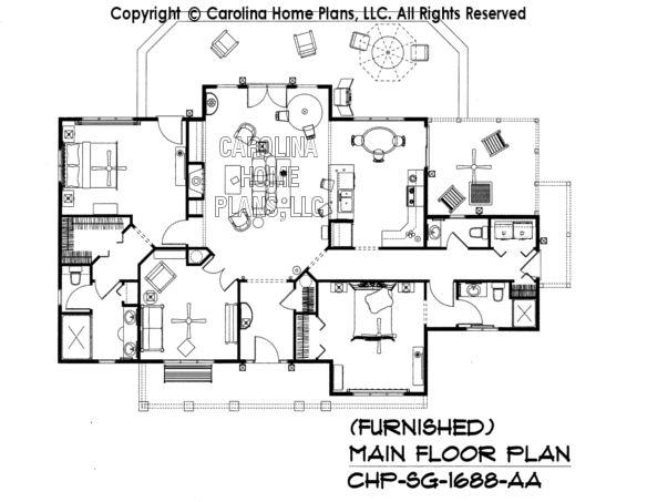 SG-1688-AA Furnished Main Floor Plan