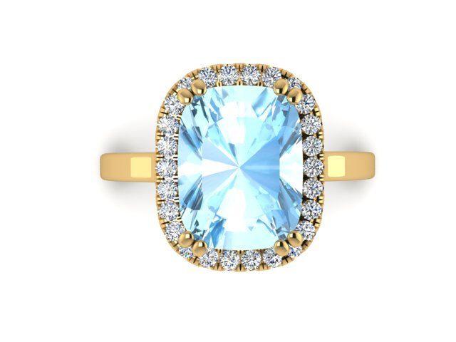 Yellow Gold Diamond Rings, Diamond Halo Engagement Ring, Natural Aquamarine Ring, Diamond Ring, Aquamarine Ring, Cushion Shape Diamond Ring by BridalRings on Etsy https://www.etsy.com/listing/466223874/yellow-gold-diamond-rings-diamond-halo