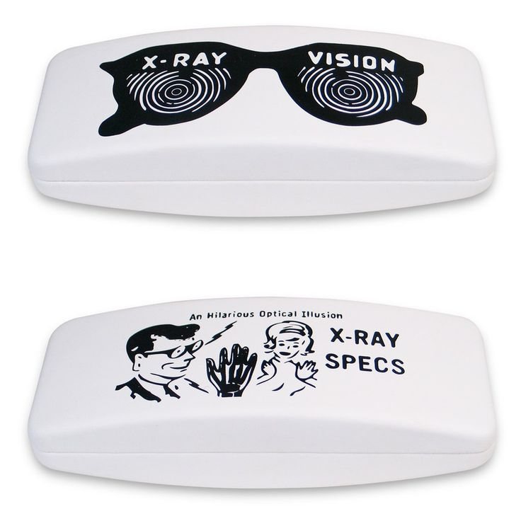 """""""X-Ray"""" Eye Glass Case, a design by Ben Hall, comes from ACME Studio's line of designer Eye Glass Cases. $45  Hard hinged case with black interior. Interior is marked with the designer name and the ACME logo. Case is packaged in a black ACME box."""