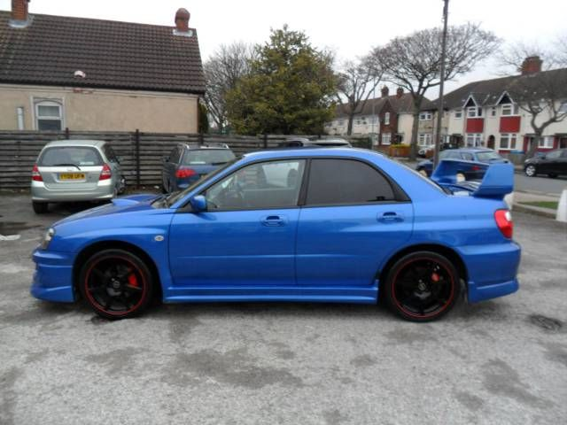 2005 #Subaru #Impreza 2.0 WRX Saloon. Petrol. Blue. Click for loads more. £3,995