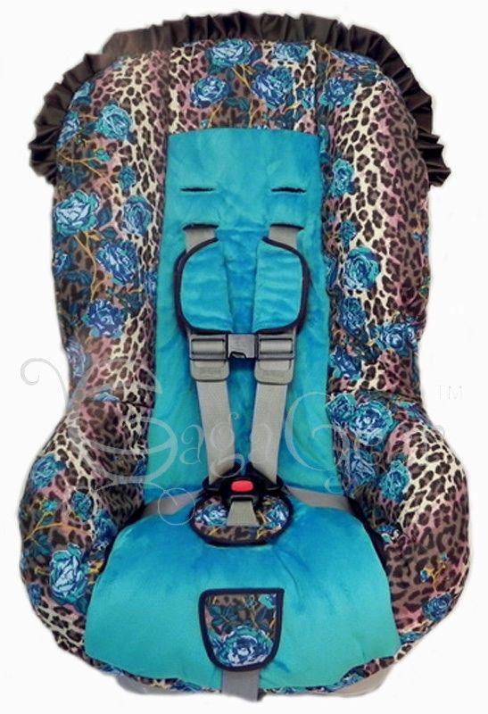 Blue Cheetah Car Seat Covers