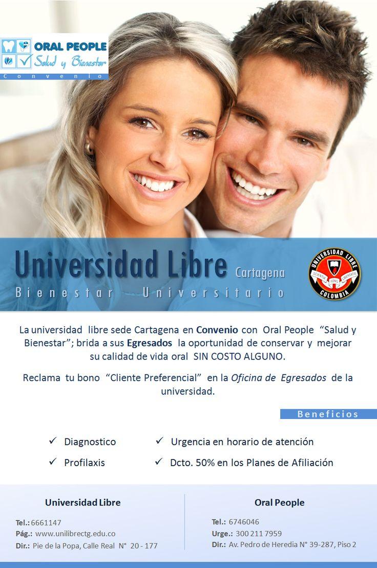 Afiche: Convenio Oral People y Universidad Libre. Created by Alan Herrera.