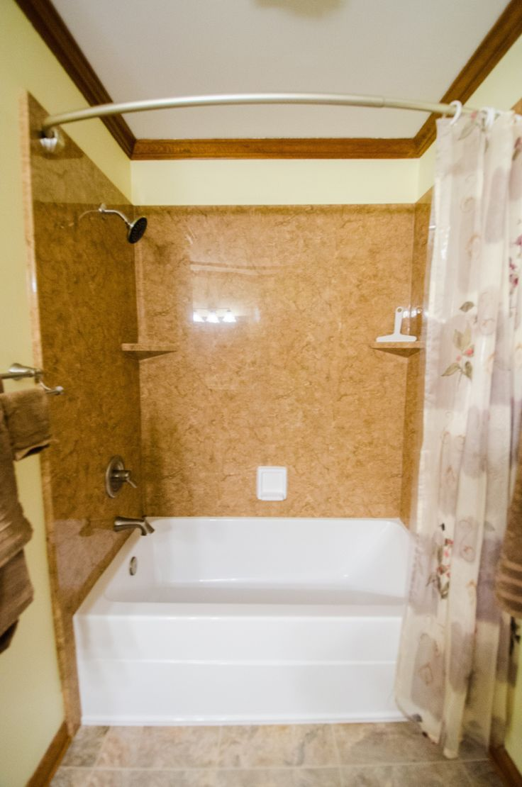 Photo Album For Website Curved Shower Head Durabath Wall System Bathroom Makeover Bathroom Remodel Oversized Tub