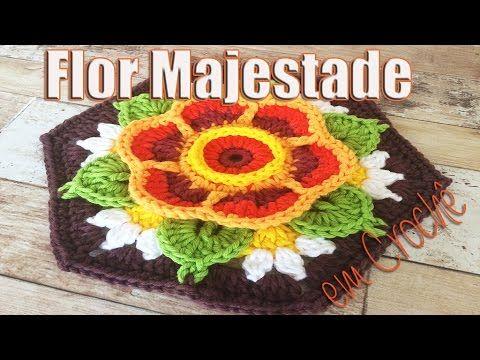 Vamos aprender a fazer uma linda flor em crochê? Neste vídeo vou ensinar a Flor Majestade! FONTE: http://www.stylecraft-yarns.co.uk/Crochet.htm MATERIAL UTIL...