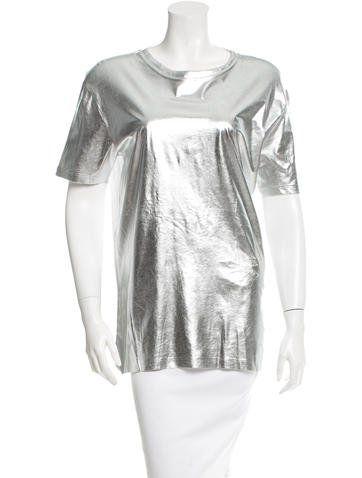 McQ by Alexander McQueen Metallic Short Sleeve Dress w/ Tags