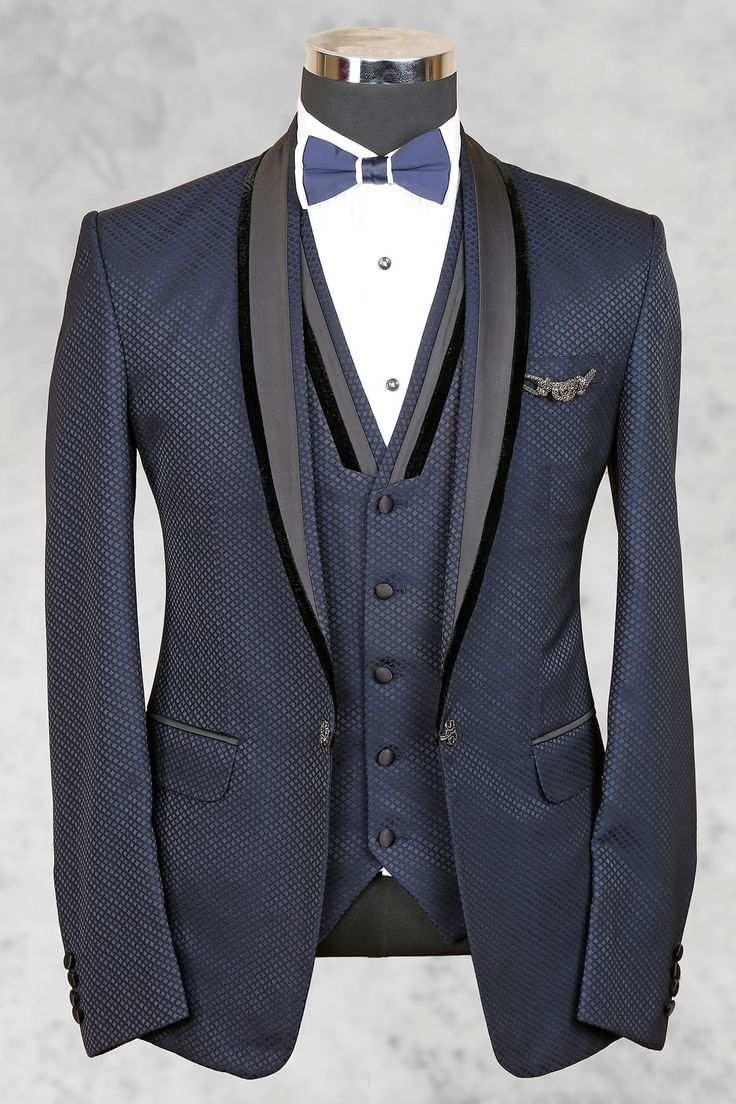 Bluish grey admirable italian suit with shawl lapel-ST455 - Tuxedo Suits - Men's Suits - Men's Wear. FREE shipping world wide