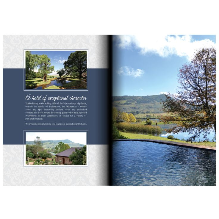 Brochure Layout and Design for the Walkersons Hotel & Spa in Dullstroom