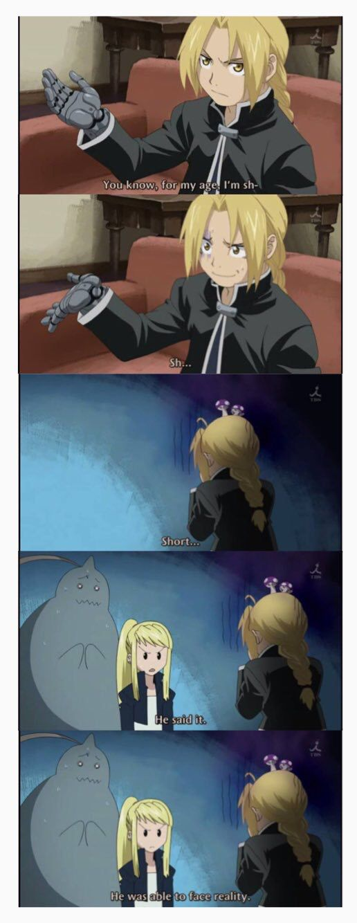 When Ed was finally able to face the reality // Fullmetal alchemist Brotherhood