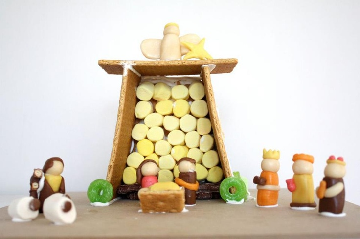 Darling edible nativity from Craftiness is Not Optional... how cool is this! #nativity