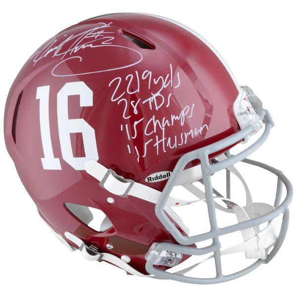 Derrick Henry Alabama Crimson Tide Fanatics Authentic Autographed Riddell Pro-Line Helmet with Multiple Inscriptions - Limited Edition of 24 - $749.99