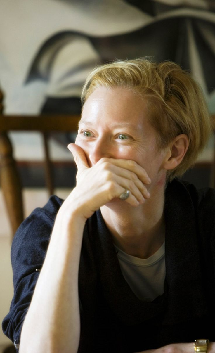 Tilda Swinton surprised