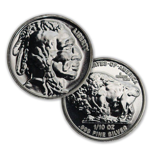 Buy 1 10 Oz Silver Buffalo Indian Head Rounds Money Metals Silver Rounds Silver Coins Silver