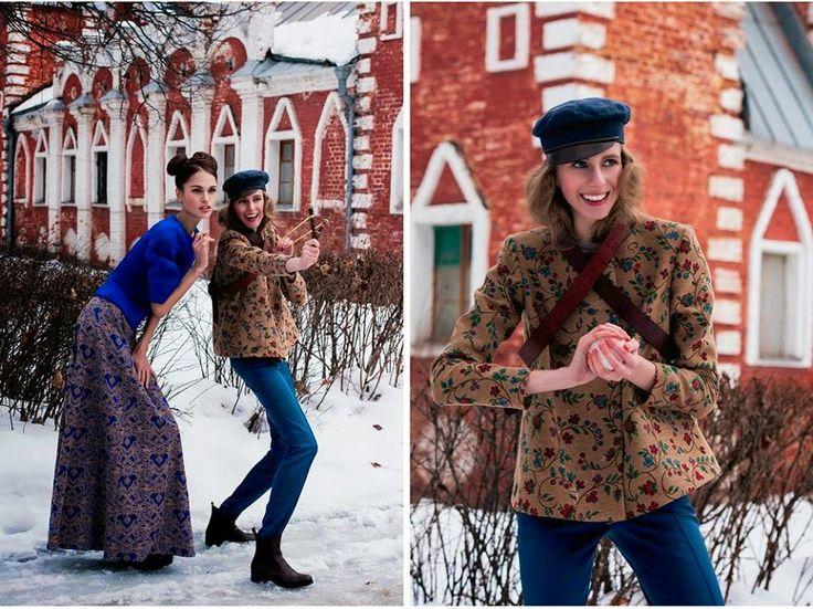 Lesya Tarasova: Новая коллекция Anastasia&Olga Kalashnikovy «BOYAR...