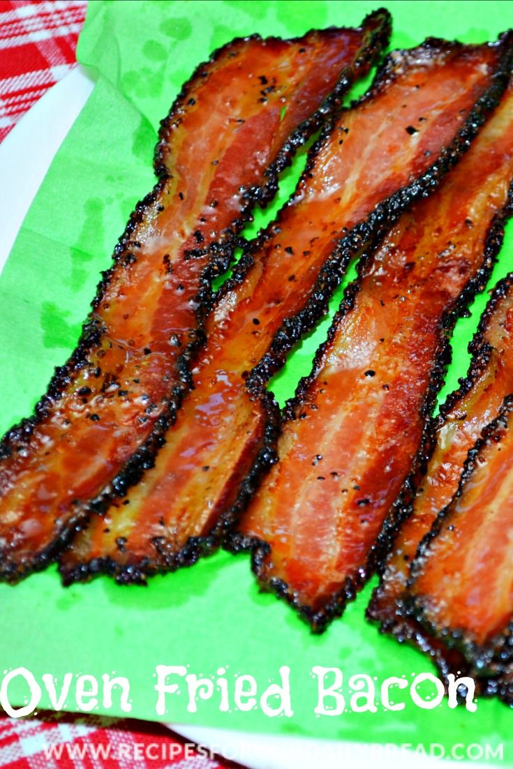 Oven Fried Bacon recipe - The easiest way to fry bacon! http://recipesforourdailybread.com/2012/11/01/oven-fried-bacon-recipe-pic/ #bacon #oven bacon #fried bacon #breakfast
