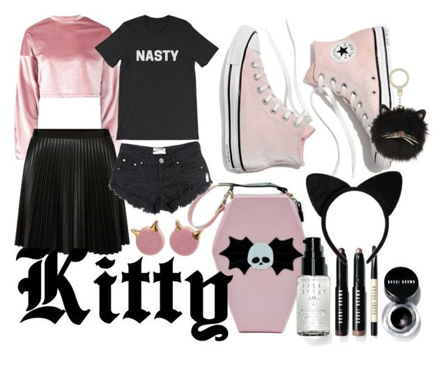 Here kitty by illetilmote on Polyvore featuring Boohoo, OneTeaspoon, Madewell, Kate Spade and Bobbi Brown Cosmetics