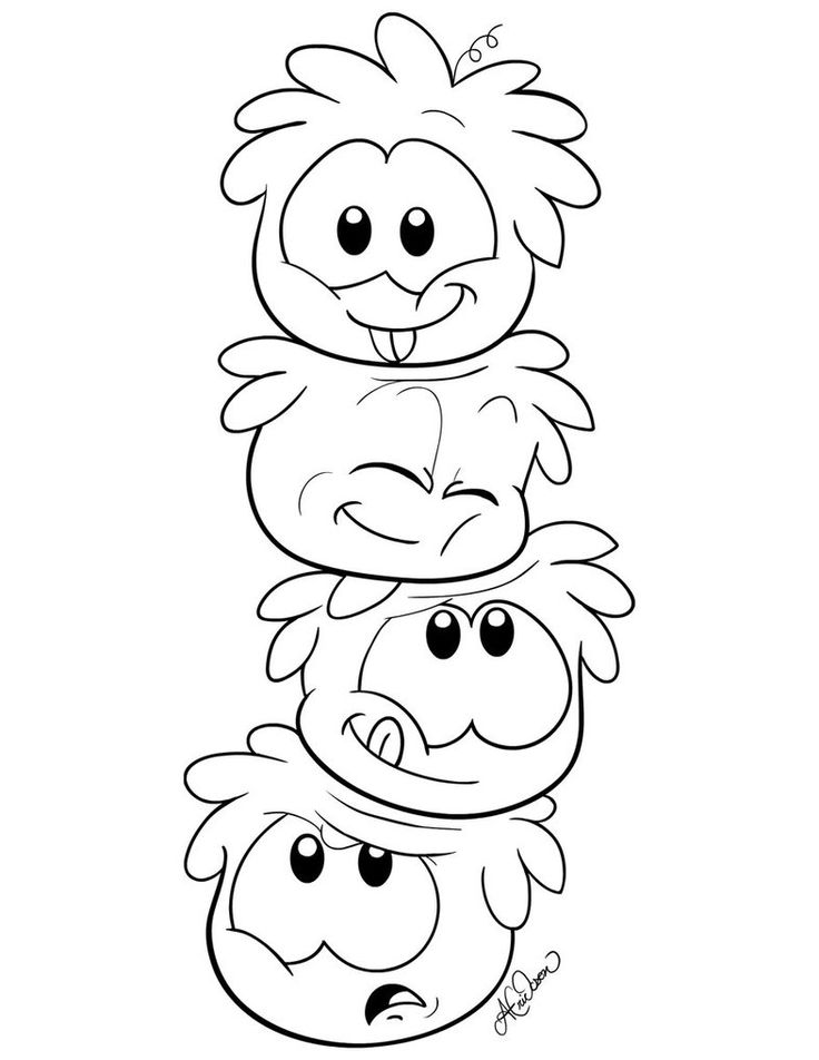 club penguin christmas coloring pages | 65 best Club Penguin Coloring Pages Ninja images on ...