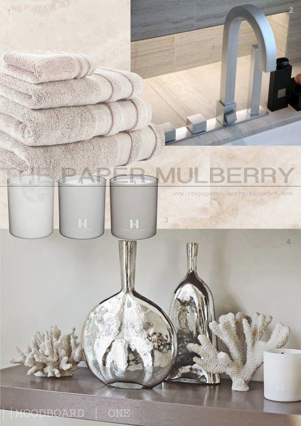 contemporary spa styled accessories for the bathroom || The Paper Mulberry:  || BATHROOM