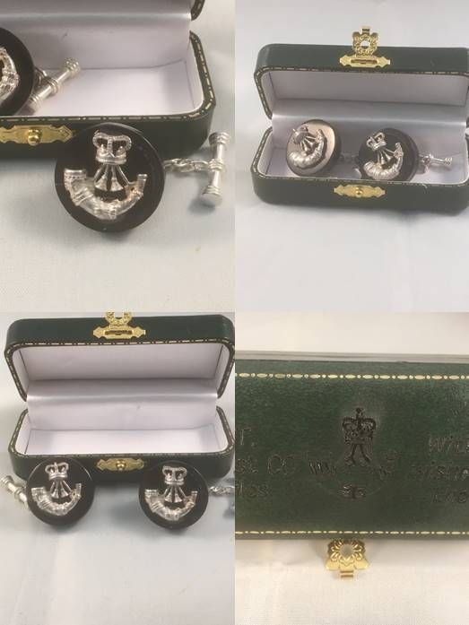 Hand-turned and polished horn and individually cast silver combined into bespoke cufflinks  £200, plus p&p, 6 - 8 weeks to deliver because these cufflinks are made from scratch  Go this this link to see some of the items being madehttps://www.youtube.com/watch?v=Df0q4q5GZsQ
