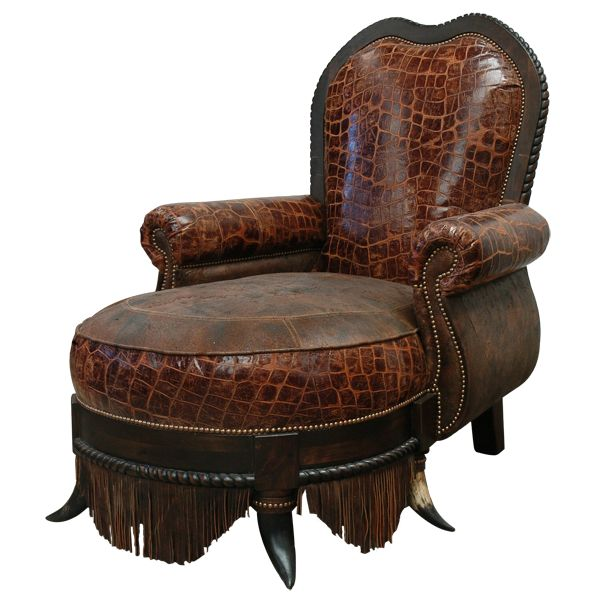 Chaise lounge chairs cazador real chaise lounge western for Chaise western