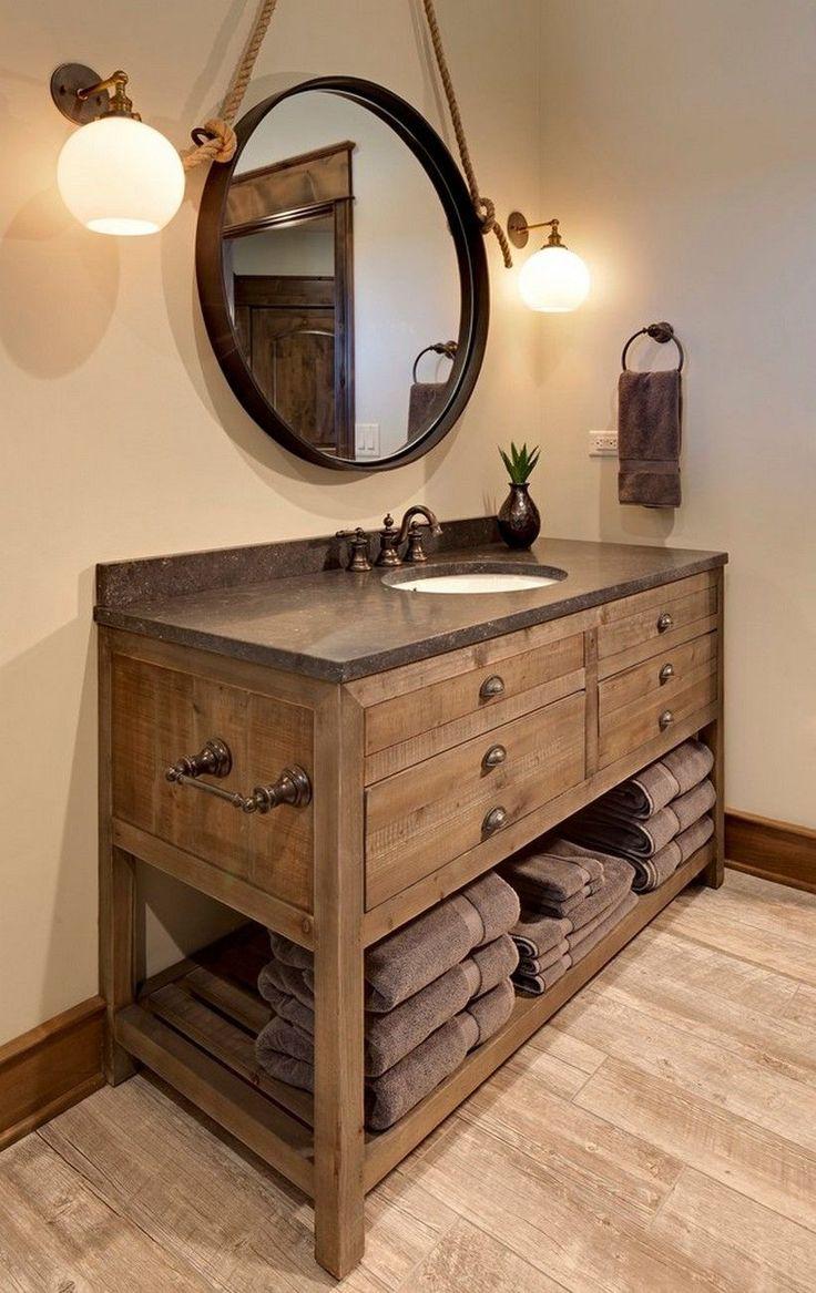 Estilo Rústico moderno cuarto de Baño de la Vanidad de ...