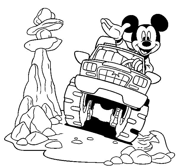 478 Best Mickey Mouse Amp Friends Colouring Pages Images On