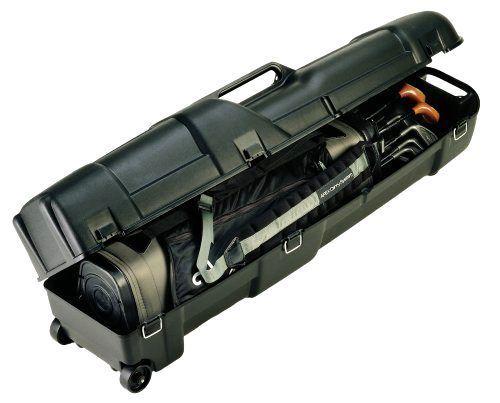 Golf Club Carrier Wheeled Plastic Plano Travel Case Driver Bag Hard Shell New #Plano