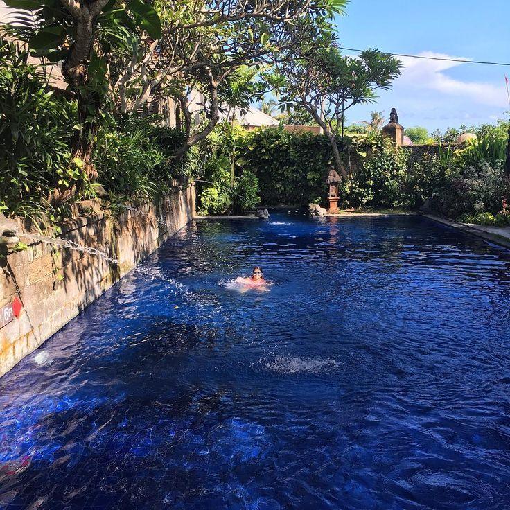 Fun in the sun! My girl enjoying the pool at Tugu Bali