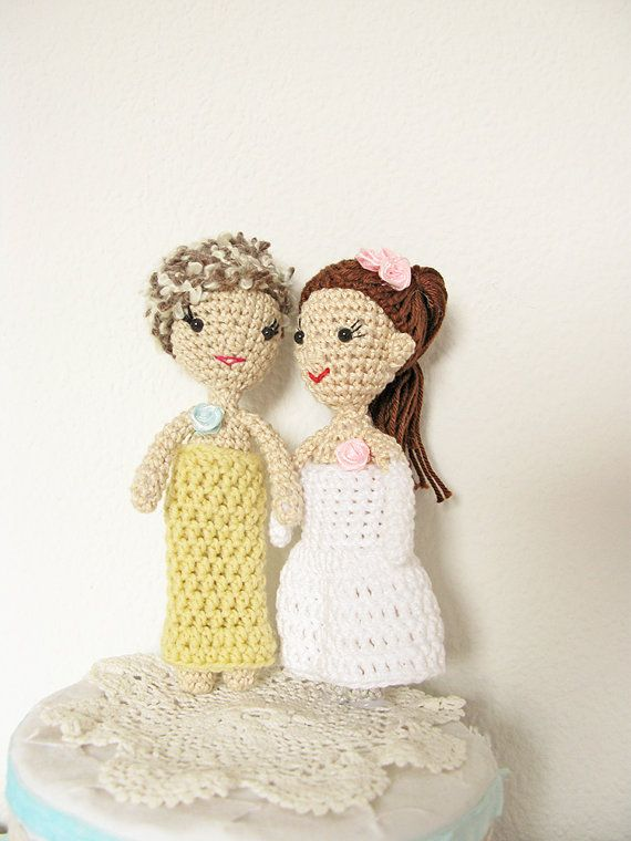 Crochet Wedding Cake Topper Free Pattern