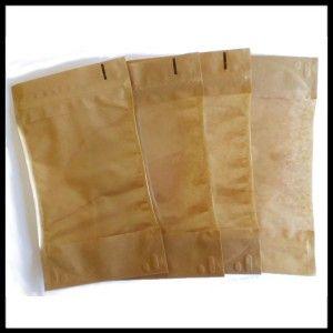 Torebki papierowe ze struną 25 g typu Doypack PREMIUM (100 sztuk)  NOWOŚĆ