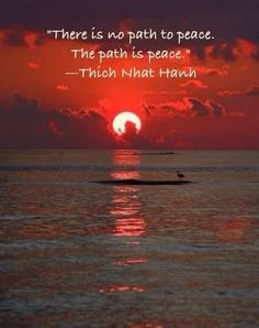 The only path that counts, as well as, does matter is one of peace!