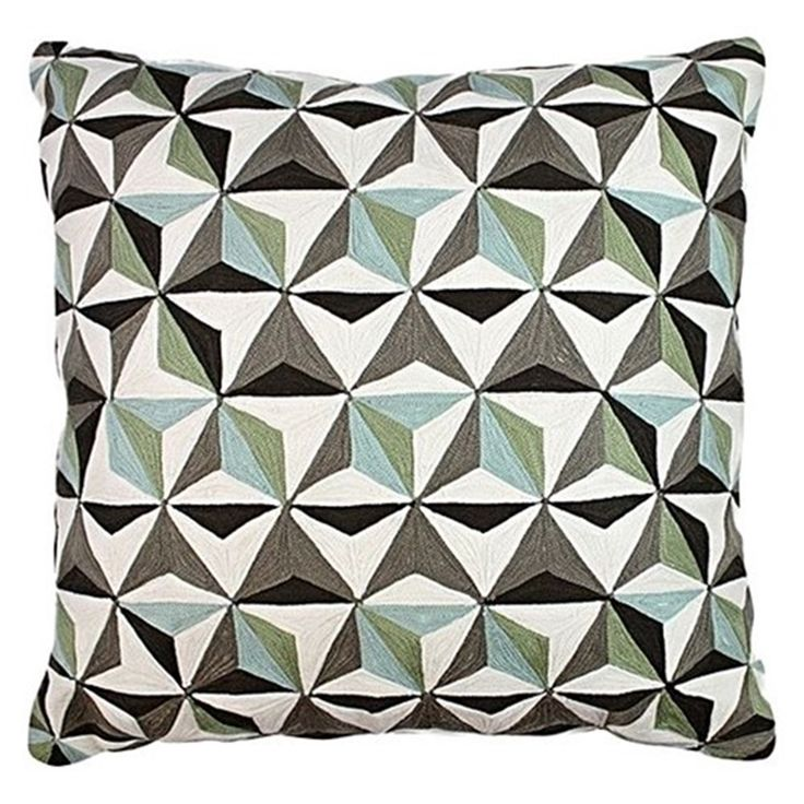 One Duck Two 3D Tiles Cushion Grey/Black | Cushions & Blankets - House