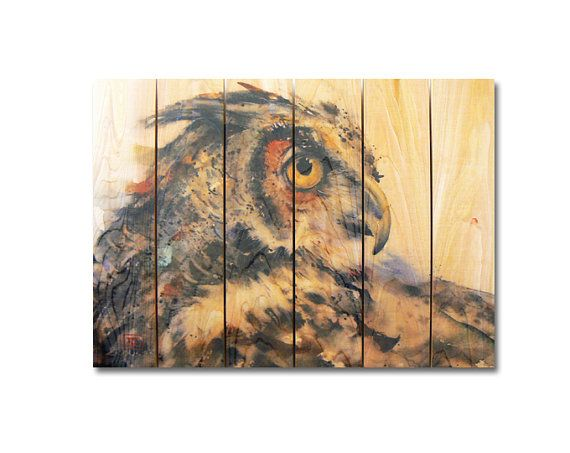 Hey, I found this really awesome Etsy listing at https://www.etsy.com/listing/239670887/33x24-looking-back-painted-owl-on-cedar