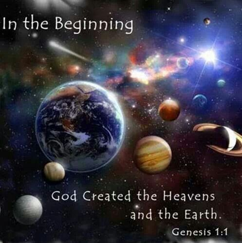 Image result for bible verse about god creating the universe